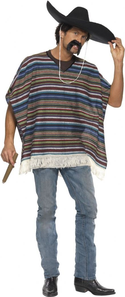Wild West Authentic Looking Poncho